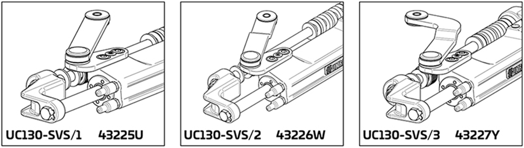 UC130 SVS Hydraulic Cylinder Applications 1, 2 and 3