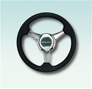V21B Firm Grip Black Poly Steering Wheel 13.8""