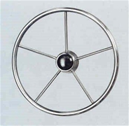 "V44 Stainless Steel Steering Wheel 20"" Dia"