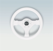 Ultraflex V45W 38049 P 3-Spoke White Steering Wheel