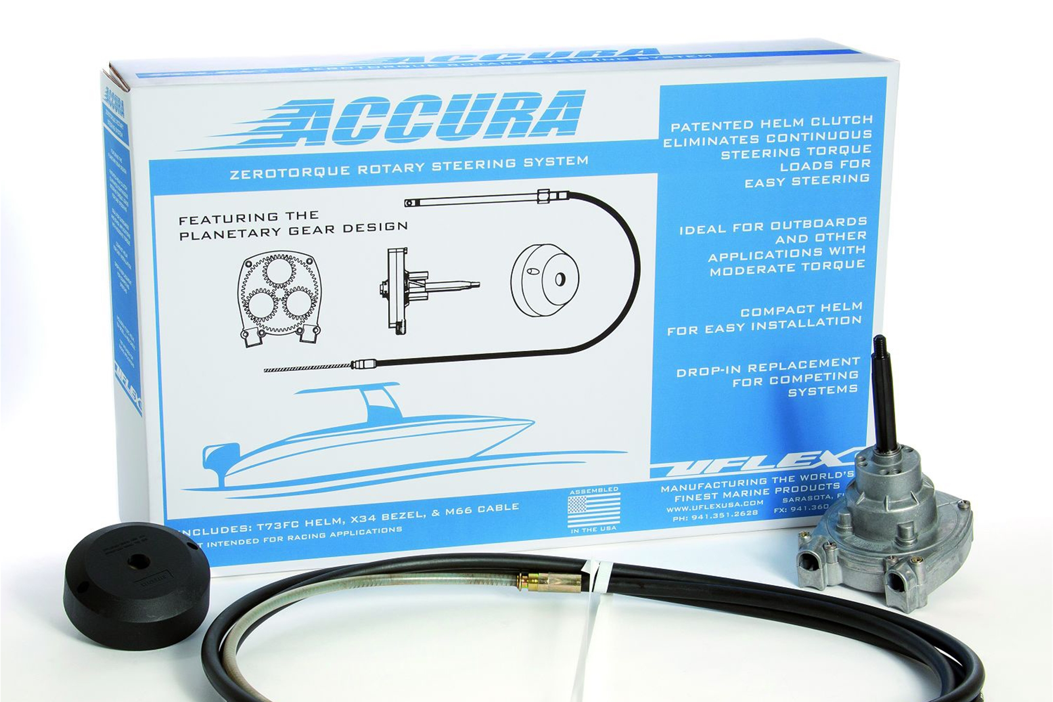 Accura™ 15 Feet No Feedback Packaged Steering System