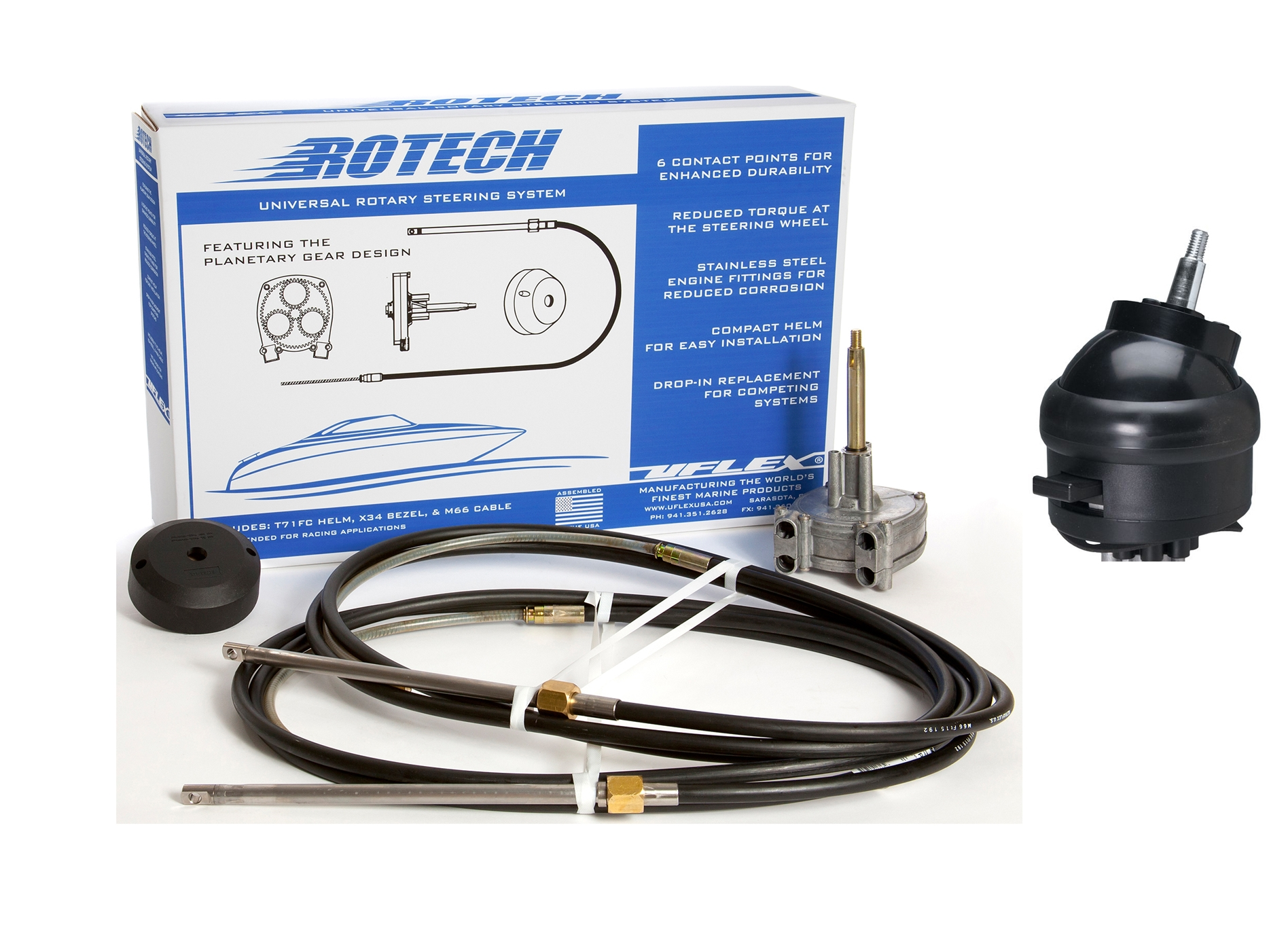 Rotech II-20 Feet Packaged Steering System W/Tilt